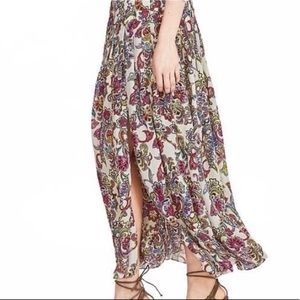 Banana Republic Colorful Paisley Maxi Skirt NWT 0